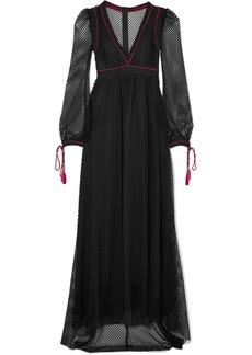Philosophy di Lorenzo Serafini Tassel-trimmed lace maxi dress