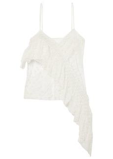 Philosophy Di Lorenzo Serafini Woman Asymmetric Ruffled Embroidered Tulle Camisole Ivory