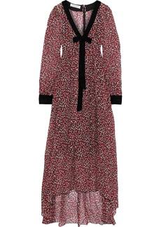 Philosophy Di Lorenzo Serafini Woman Bow-embellished Printed Silk-gauze Maxi Dress Brick