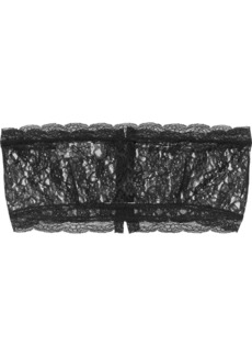 Philosophy Di Lorenzo Serafini Woman Chantilly Lace Bandeau Top Black