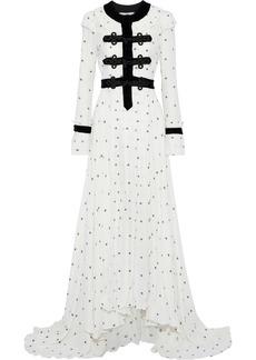 Philosophy Di Lorenzo Serafini Woman Corded Lace-paneled Fil Coupé Gauze Gown White