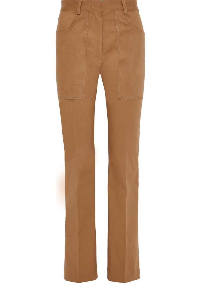 Philosophy Di Lorenzo Serafini Woman Cotton-blend Straight-leg Pants Camel