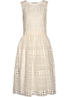 Philosophy Di Lorenzo Serafini Woman Cotton-lace Midi Dress White