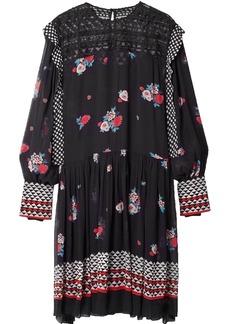 Philosophy Di Lorenzo Serafini Woman Embroidered Printed Tulle Dress Black
