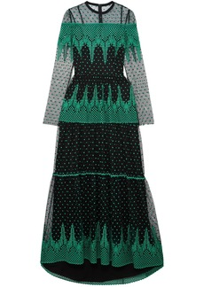 Philosophy Di Lorenzo Serafini Woman Embroidered Tulle Gown Black