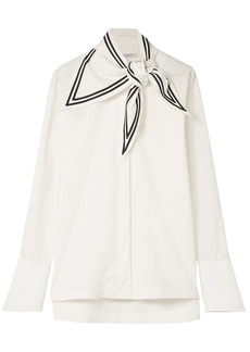 Philosophy Di Lorenzo Serafini Woman Knotted Cotton-poplin Shirt White