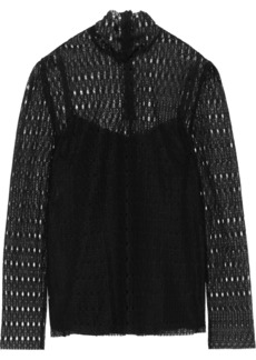 Philosophy Di Lorenzo Serafini Woman Lace Turtleneck Top Black