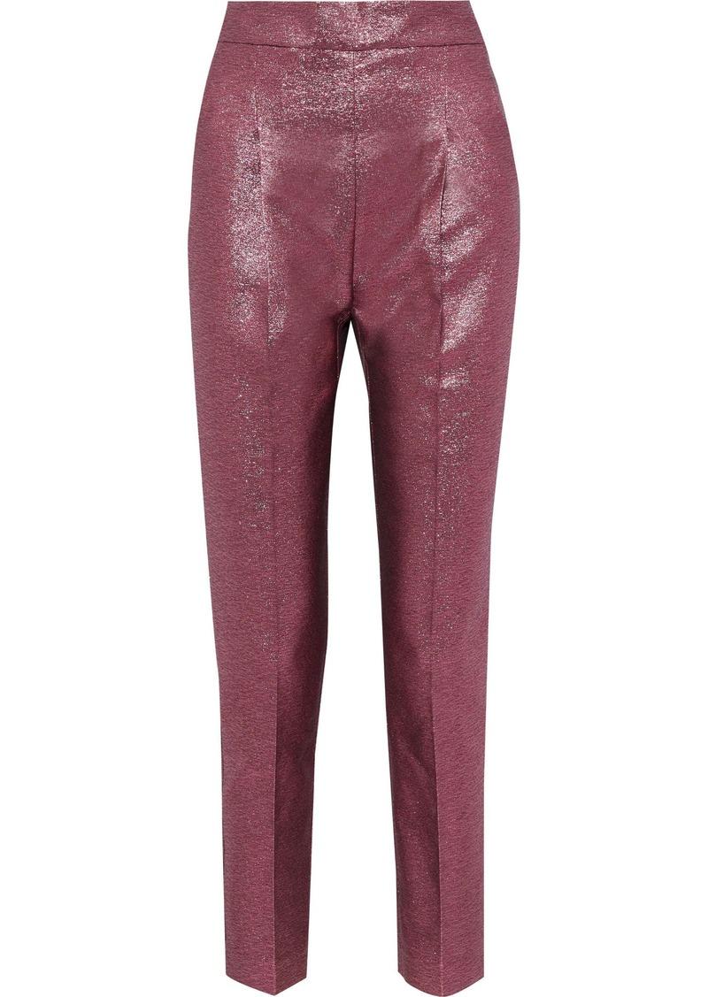 Philosophy Di Lorenzo Serafini Woman Lamé Slim-leg Pants Magenta
