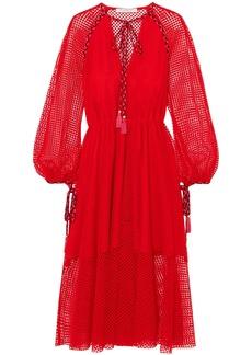 Philosophy Di Lorenzo Serafini Woman Macramé Lace Midi Dress Red