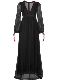 Philosophy Di Lorenzo Serafini Woman Macramé Maxi Dress Black