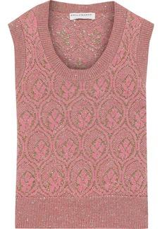 Philosophy Di Lorenzo Serafini Woman Metallic Wool-jacquard Tank Pink