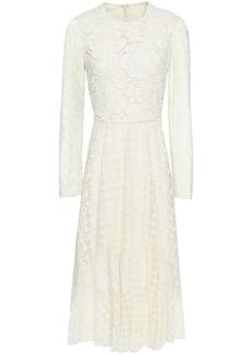Philosophy Di Lorenzo Serafini Woman Paneled Corded Lace Midi Dress Ivory