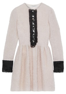 Philosophy Di Lorenzo Serafini Woman Embellished Mohair-blend Bouclé Mini Dress Baby Pink