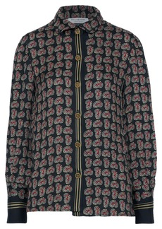 Philosophy Di Lorenzo Serafini Woman Printed Crepe Shirt Black