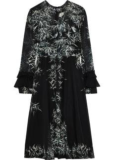 Philosophy Di Lorenzo Serafini Woman Printed Silk-chiffon Dress Black