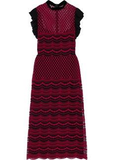 Philosophy Di Lorenzo Serafini Woman Ruffle-trimmed Embroidered Tulle Dress Black