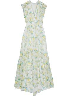 Philosophy Di Lorenzo Serafini Woman Ruffle-trimmed Floral-print Chiffon Maxi Dress Ivory