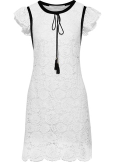 Philosophy Di Lorenzo Serafini Woman Ruffled Cotton-blend Guipure Lace Mini Dress White
