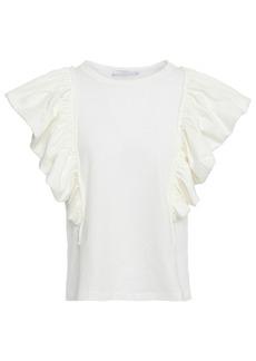 Philosophy Di Lorenzo Serafini Woman Ruffled Cotton-jersey Top Off-white