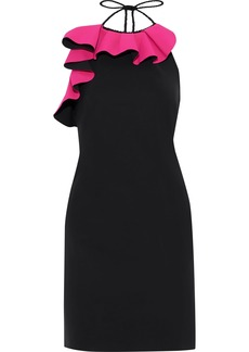 Philosophy Di Lorenzo Serafini Woman Ruffled Halterneck Crepe Dress Black