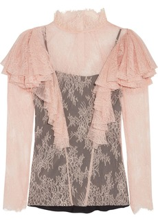 Philosophy Di Lorenzo Serafini Woman Ruffled Lace Blouse Baby Pink