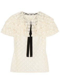 Philosophy Di Lorenzo Serafini Woman Ruffled Lace Blouse Cream