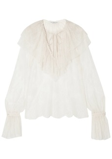 Philosophy Di Lorenzo Serafini Woman Ruffled Lace Blouse Ivory