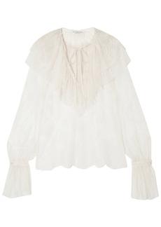 Philosophy Di Lorenzo Serafini Woman Ruffled Lace Blouse Ivory