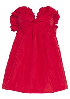 Philosophy Di Lorenzo Serafini Woman Strapless Ruffle-trimmed Taffeta Mini Dress Red