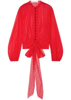 Philosophy Di Lorenzo Serafini Woman Tie-front Lace Blouse Red