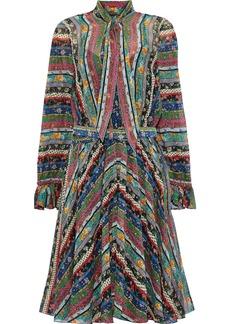 Philosophy Di Lorenzo Serafini Woman Tie-neck Belted Printed Silk-chiffon Dress Multicolor