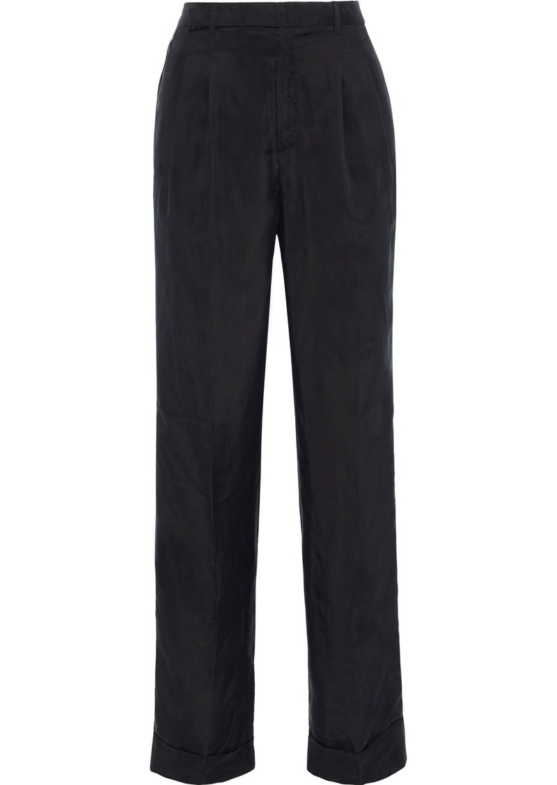 Philosophy Di Lorenzo Serafini Woman Washed-twill Straight-leg Pants Black