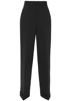 Philosophy Di Lorenzo Serafini Woman Wool And Cotton-blend Crepe Wide-leg Pants Black