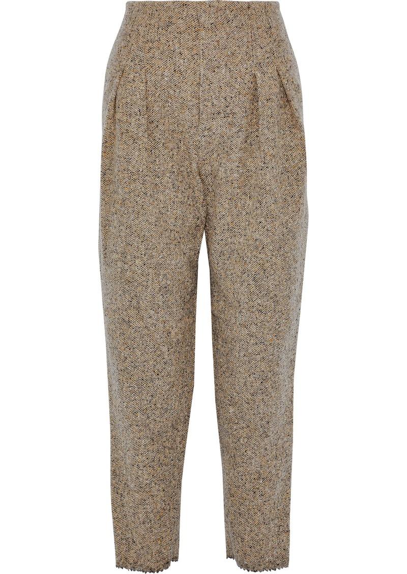Philosophy Di Lorenzo Serafini Woman Wool-tweed Tapered Pants Sand