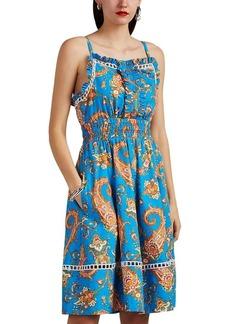 Philosophy di Lorenzo Serafini Women's Blurred-Paisley Cotton Poplin Midi-Dress