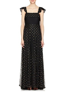 Philosophy di Lorenzo Serafini Women's Embroidered Mesh Maxi Dress
