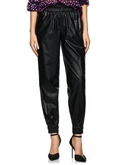 Philosophy di Lorenzo Serafini Women's Faux-Leather High-Rise Jogger Pants