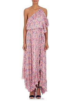 Philosophy di Lorenzo Serafini Women's Floral Chiffon One-Shoulder Maxi Dress