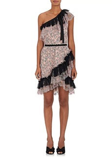 Philosophy di Lorenzo Serafini Women's Floral Lace One-Shoulder Minidress
