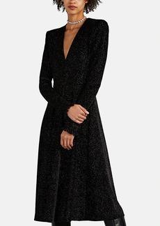 Philosophy di Lorenzo Serafini Women's Glitter-Embellished Velvet Midi-Dress
