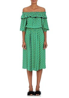 Philosophy di Lorenzo Serafini Women's Heart-Print Cady Midi-Dress