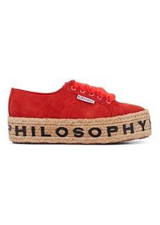 Philosophy di Lorenzo Serafini Women's Logo-Sole Suede Platform Sneakers