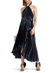 Philosophy di Lorenzo Serafini Women's Metallic Velvet Halter Gown