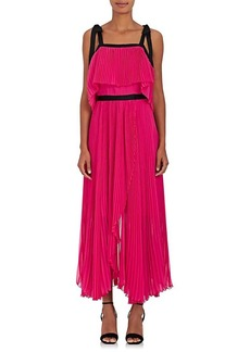 Philosophy di Lorenzo Serafini Women's Pleated Chiffon Maxi Dress