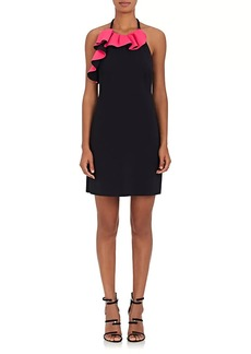 Philosophy di Lorenzo Serafini Women's Ruffled Tech-Jersey Halter Minidress