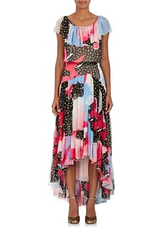 Philosophy di Lorenzo Serafini Women's Star-Print Silk Georgette Maxi Dress