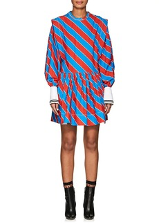 Philosophy di Lorenzo Serafini Women's Striped Poplin Pinafore Minidress