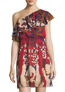 Philosophy Double-Ruffle One-Shoulder Dress