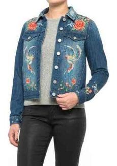 Philosophy Embroidered Denim Jacket (For Women)