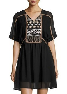 Philosophy Extended Shoulder Embroidered Dress